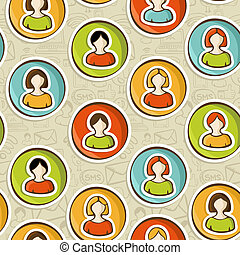Social networks users people pattern - Diversity user people...