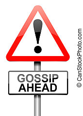 Gossip concept. - Illustration depicting a roadsign with a...