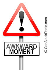 Awkward moment. - Illustration depicting a roadsign with an...