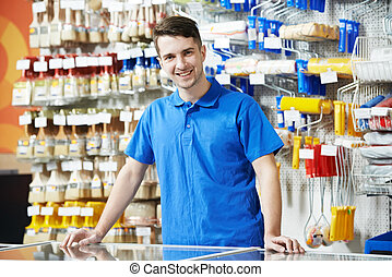 Seller at home improvement store - Happy seller