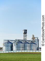 grain storage silo food processing project - Grain silo...