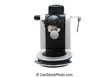 Espresso coffee machine front view