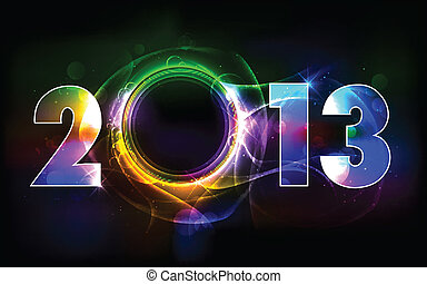 Happy New Year 2013 - illustration of shiny 2013 in happy...