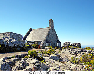 stone house on Table Mountain(South Africa) - stone house in...