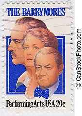 USA - CIRCA 1982 : stamp printed in USA honor the memory of...