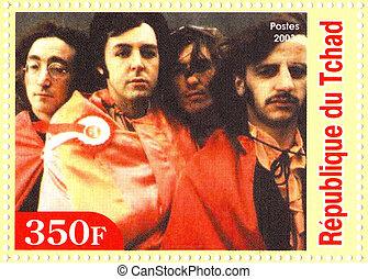 repubblica, chad, -, circa, 2003, :, il, Beatles, -, 1960s,...
