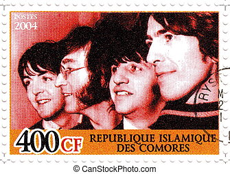 REPUBLIC COMORES ? CIRCA 2004 : The Beatles - 1960s famous...