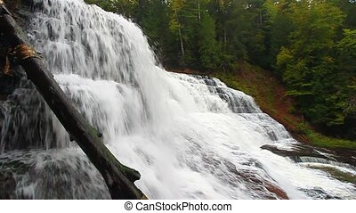 Agate Falls Michigan - Spectacular view of Agate Falls in...