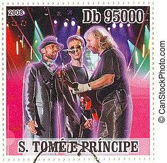 S.TOME E PRINCIPE - CIRCA 2008 : famous singing trio of...