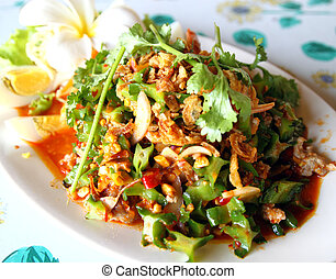 winged bean salad, food of thailand