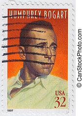 USA - CIRCA 1997 : stamp printed in USA shows Humphrey Bogart American actor, , circa 1997