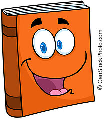 Text Book Cartoon Mascot Character - Happy Text Book Cartoon...