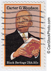USA - CIRCA 1997 : stamp printed in USA show Carter Godwin Woodson, circa 1997
