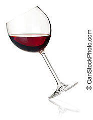 Wine collection - Red wine in falling glass