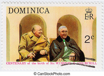 DOMINICA - CIRCA 1974 : stamp printed in Dominica shows...