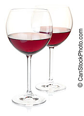 Red wine in glasses