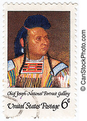 USA - CIRCA 1968: stamp printed in the USA shows Chief...