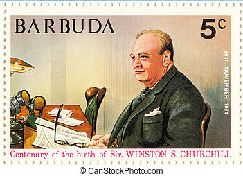 BARBUDA ? CIRCA 1974 :Winston Churchill - great UK politic