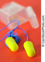 ear plugs isolated