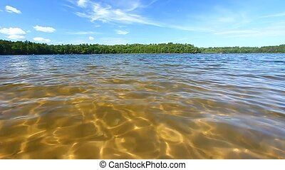 Northwoods Swimming Beach - Small ripples on a beautiful...