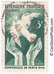 FRANCE - CIRCA 1946: stamp printed in France shows...