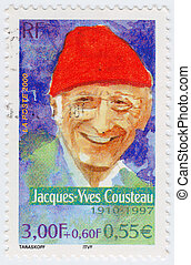 FRANCE - CIRCA 2000: stamp printed in France shows Jacques...