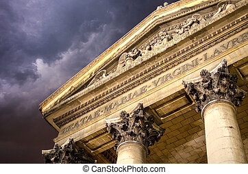 Architectural Detail of Paris in Winter