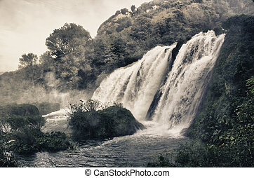 Stunning view of Marmore Waterfalls, Umbria - Stunning view...
