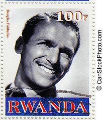 RWANDA - CIRCA 2003 : stamp printed in Rwanda shows Douglas...