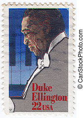 USA - CIRCA 1999 : stamp printed in USA shows Duke Ellington...