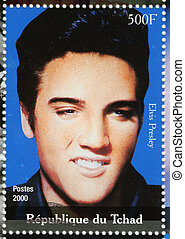 TCHAD - CIRCA 2000 : stamp printed in Tchad - famous actor...