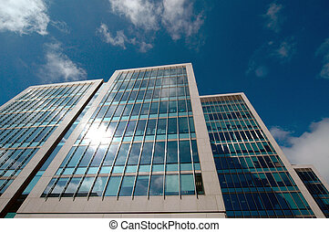 Office buildings - Exterior architecture of modern office...
