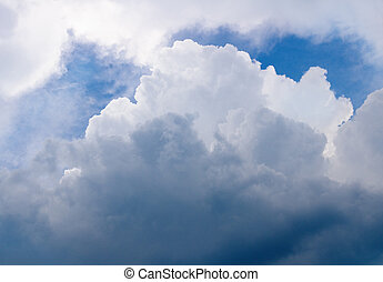 Thunderclouds of a coming nearer storm.Nature composition.