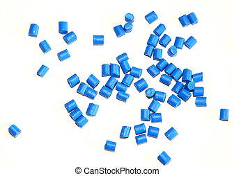 azul, polímero, Resina