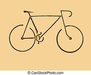 bike symbol - very small bike isolated