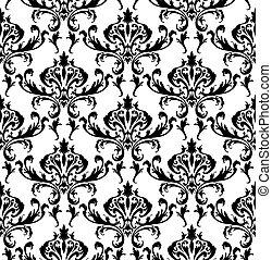 Damask seamless pattern - Damask seamless vector pattern....