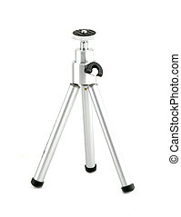 A small tripod on a white background