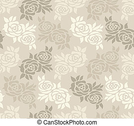 Abstract seamless rose wallpaper