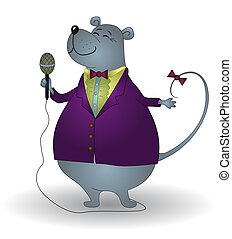 Rat singer, world famous and grandiosely popular, sings in a...
