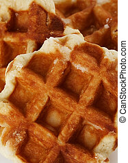 Belgian waffles - fresh Belgian waffles