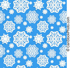 Seamless Christmass background from snowflakes applique