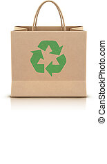 paper shopping bag - Vector illustration of environmentally...