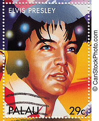 PALAU - CIRCA 2000 : Stamp printed in Palau shows actor and...