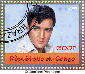 CONGO - CIRCA 2009 : stamp printed in Congo - famous rock...