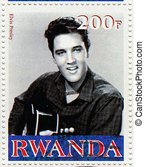 RWANDA CIRCA 2000 : Stamp printed in Rwanda shows actor and...
