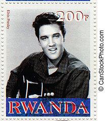 RWANDA CIRCA 2000 : Stamp printed in Rwanda shows actor and...