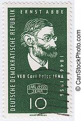 Alemanha, -, circa, 1956, :, selo, impresso, Alemanha,...