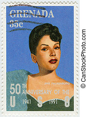 GRENADA - CIRCA 1991 : stamp printed in Grenada shows...
