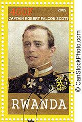 RWANDA - CIRCA 2009: stamp printed in Rwanda showing Captain...