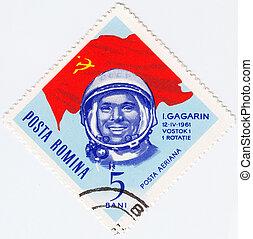 Romania, -, circa, 1963, :, francobollo, stampato, Romania,...
